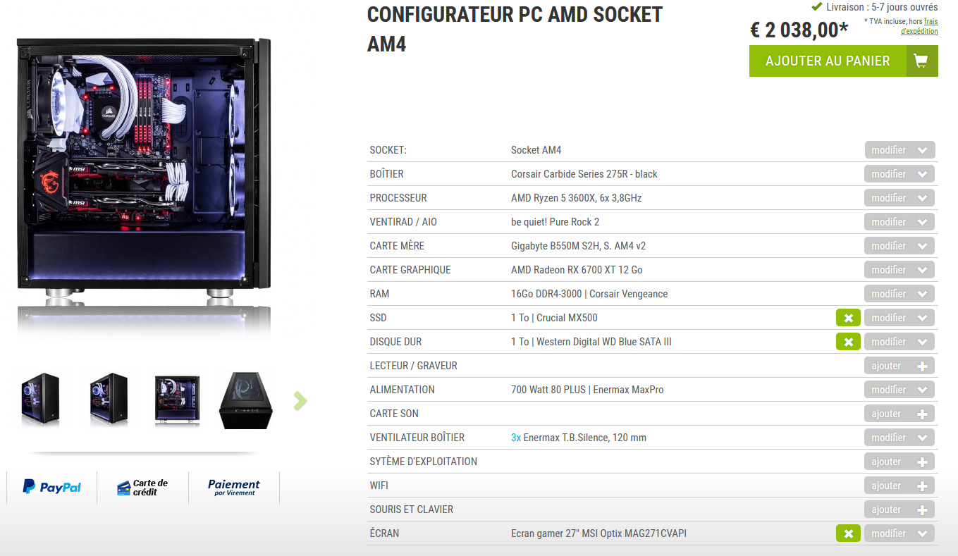 config Pc Megaport 2000€